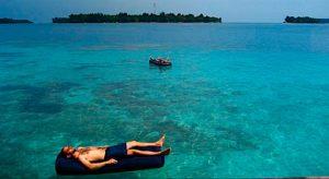berjemur wisata pulau macan